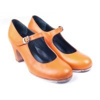 Alegría, 03 Piel naranja | Tacón clásico alto 65 mm forrado, hechos a medida y a mano por ArteFyL