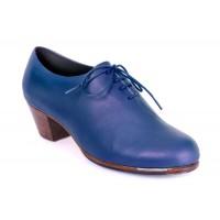 21 Piel azul marino | Tacon cubano bota 50 mm nogal