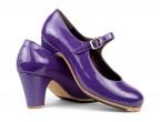 Zapatos Alegría, C25 Charol morado | Tacón clásico alto 65 mm forrado, hechos a medida y a mano por ArteFyL