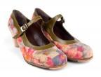 Piel fantasía, fuera de catálogo | 15 Piel verde oliva | Tacón clásico bajo 55 mm natural, personaliza tus zapatos de baile