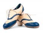 8 Piel beige | 18 Piel azul | Tacón Cubano bota 50 mm natural, Configura y haz tu pedido online