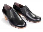 24 Piel Negro | Tacón Cubano bota 50 mm natural, fáciles de quitar y poner