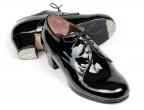 C24 Charol negro | Tacón Cubano bota 50 mm forrado, con clavos