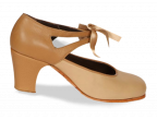 A08 Ante beige | A09 Piel Camel oscuro | Tacón clásico alto forrado, lateral