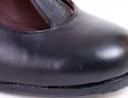 Detalle puntera zapatos para baile flamenco profesional