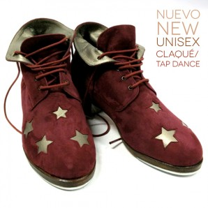 Stars ankle boot for tap dance