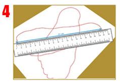 Medir el largo de los pies desde el dedo más largo hasta el talón y apuntar las medidas