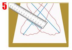 Ahora medir el ancho de ambos pies y apuntar las medidas