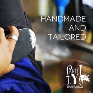 Handmade and tailored flamenco shoes